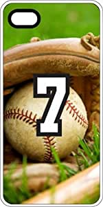 Baseball Sports Fan Player Number 7 White Plastic Decorative iPhone 6 Case