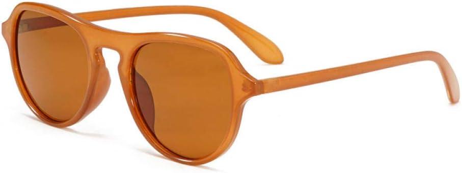 HPPSLT Gafas de Sol Polarizadas Clásico Retro para UV400 Protection, Gafas de Sol Retro Europeas y Americanas Gafas de Sol de Tendencia con Montura Redonda