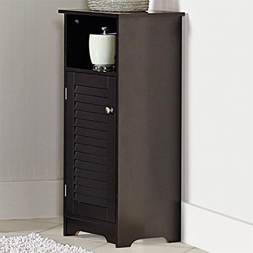 Brylanehome Louvre Short Cabinet With Cubby (Espresso,0)