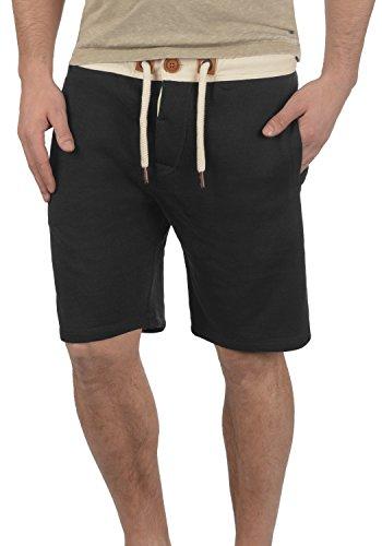 Jogging solid Court Bermuda Doublure Homme Polaire En Tripshorts Pantalon Sweat Pour Short 9000 Black rwBqXvgB