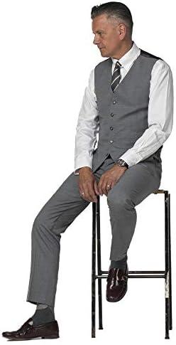 Gibson London Pantalon Semi-Uni Gris 36 Short Grey