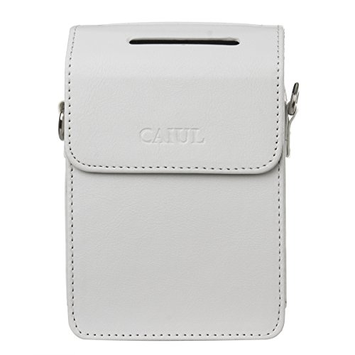 Caiul Pu Leather Case For Fujifilm Instax Share Sp 2 Smart Phone Printer  White