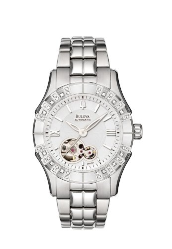 Bulova Women's 96R123 Mechanical Hand-Wind Automatic White Dial Watch (Bulova Automatic Womens Watches)
