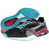 PUMA Men's Future XT-runner Translucent Sneaker,Black/Beetroot Purple/Bluebird,7.5 M US