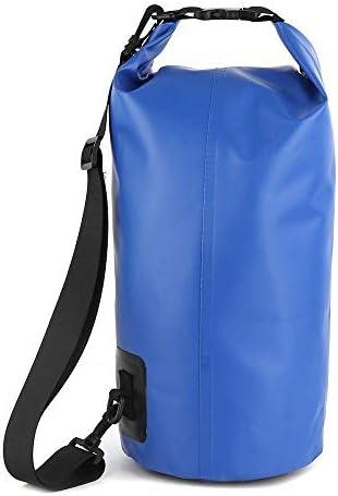 MUJUN Reserve Motorrad-Beutel-freier PVC-Dry-Sack-Beutel wasserdichte 10L 20L 30L Umhängetasche Tauchen Schwimmen Wandern Fahren Travel Kits (Color Name : Blue 20L)