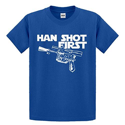 Indica Plateau Youth Han Shot First X-Large Royal Blue Kids T-Shirt ()