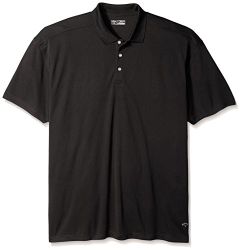 Callaway Men's Big & Tall Golf Performance Short Sleeve Polo Shirt, Black, 3X-Large Tall