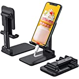 DEAMOS Cell Phone Stand, Multi-Angle Adjustable Desk Cell phone Holder Mount Compatible with iPhone 11 Pro Max 11 Pro 11 Xs Max XR X 8 7 6 6S Plus SE 5 5S,Android Smartphone (black)