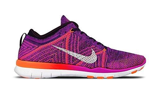 Femmes Nike Formateurs Free Running Tr Flyknit De 718785 Chaussures De Baskets (nous 8, Hyper Violette Pourpre Totale Pourpre 502)