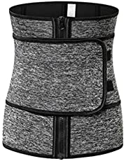 Milisten Weight Loss Belt Waist Trainer Belt Sports Workout Shapewear Waistband Body Shapers for Lady Grey 1pc (Size 3XL)
