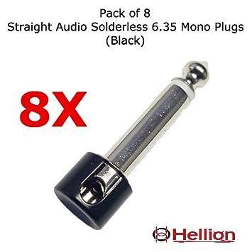 (Conectores solo) para Kit de cables de conexión Hellion para bajo y guitarra, sin soldadura, HLN1513 (Plugs - Pack og 8): Amazon.es: Instrumentos musicales