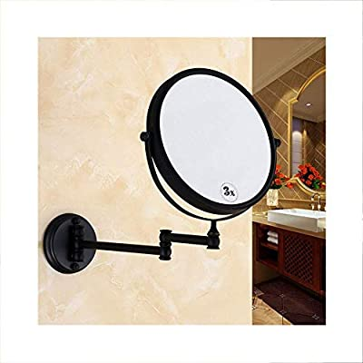 Vanity Mirrors 8 Inch Black Bathroom Mirror Wall Mounted Makeup Mirror Two Sided 3x Magnification 360 Swivel Extending Folding For Hotel Vanity Amazon Ae