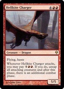 - Magic: the Gathering - Hellkite Charger (131) - Zendikar - Foil