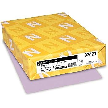 Neenah Exact Vellum Bristol, 67 lb, 8.5 x 11 Inches, 250 Sheets, Orchid