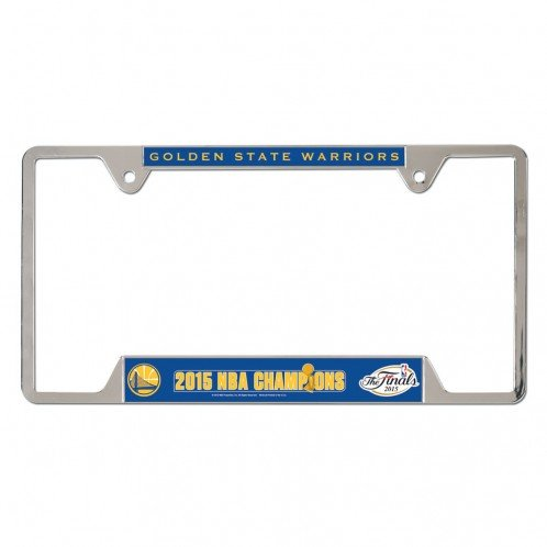 Golden State Warriors NBA Champions Metal License Plate Frame by WinCraft