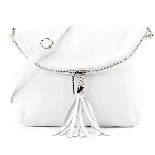 modamoda de - Made in Italy - Bolso cruzados para mujer Weiß