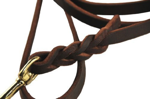 Dean & Tyler Nocturne Leash with Solid Brass Hardware, Brown, 2-Feet by 1/2-Inch by Dean & Tyler (Image #1)