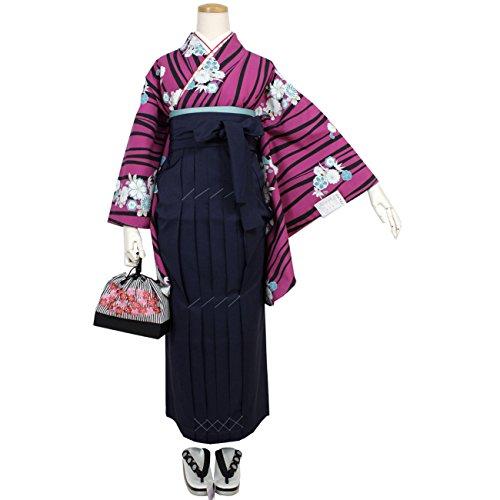 卒業式 袴セット 二尺袖 着物 2点セット レディース