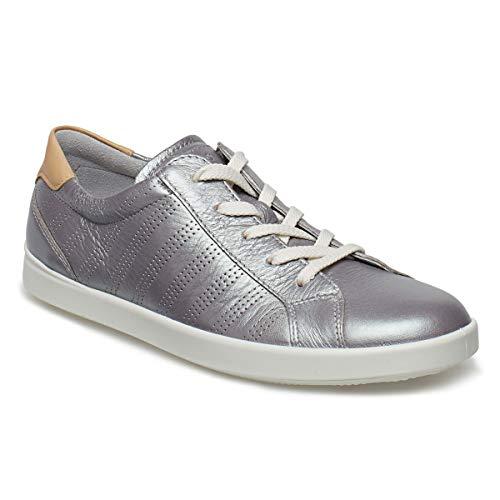 Sneakers Leisure Argenté Basses Ecco Femme concrete powder 51322 gqpFp5n