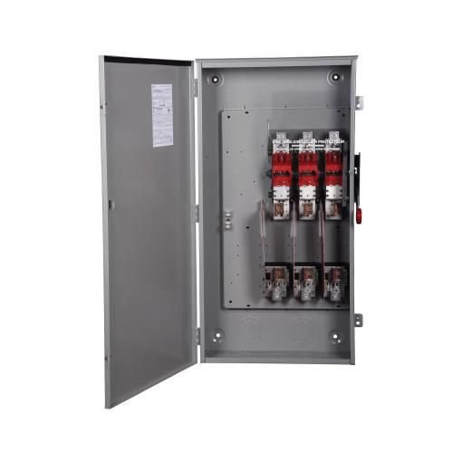Eaton DH365FRK 3 Wire 3 Pole Fusible K Series Heavy-Duty Safety Switch 600 Volt AC 400 Amp NEMA 3R