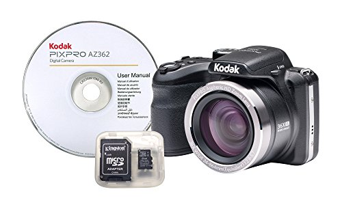 Kodak AZ362-BK4 36x Long Optical Zoom Bridge Digital Camera (Black)