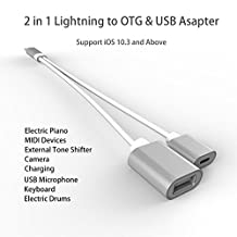 OTG Lightning Cable 8 Pin to USB OTG Adapter Cable Male to Female Lightning Extension Charging Cable for iPhone 8 8Plus 7 7Plus 6 6S iPad Support iOS 11 System