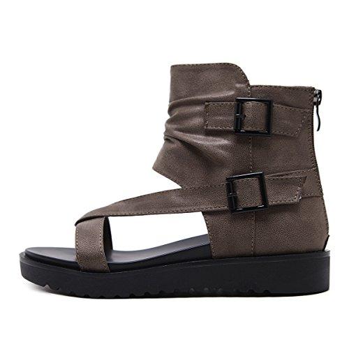 Sandales Confortable Bas Bottes Toe épais Ceinture Kaki Respirant Buckle Femmes Cool Clip SgqSO