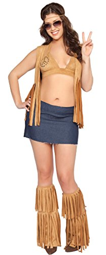 Seven (Faux Suede Hippie Vest Adult Costumes)