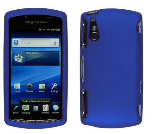 Wireless Solutuions 368199 Soft Touch Blue Snap-On Case for Sony Ericsson Xperia Play (Phone Ericsson Sony Case)