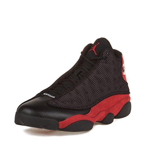 """Nike Mens Air Jordan Retro 13 """"Bred"""" Black/Varsity Red Su..."""