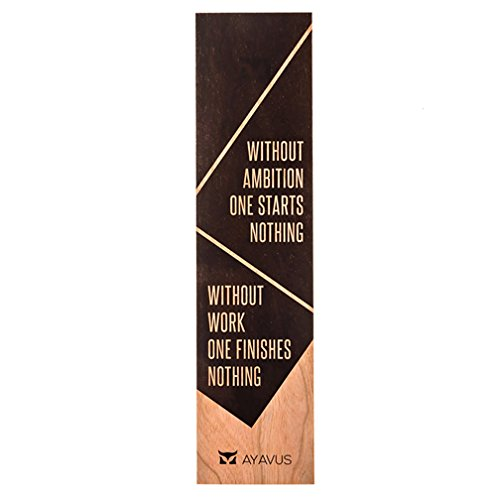 Without Ambition One Starts Nothing Wihout Work One Finishes Nothing - Inspirational Quotes Shark Tank Self Improvement Made in USA from AYAVUS