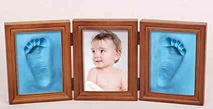 Xuxuou Bébé Cadre de Photo en bois, Sweet Memories Cadre Empreinte Bébé pour Bébé Cadeaux de naissance et souvenirs (Blanc)