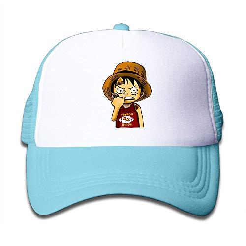 Aidear Luffy - Gorro de Malla niños niñas, Azul (Skyblue), Talla única