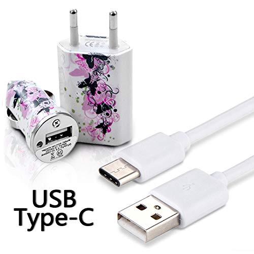 KARYLAX Chargeur Secteur Voiture C/âble USB Type C Motif CV14 pour Samsung Galaxy A20e