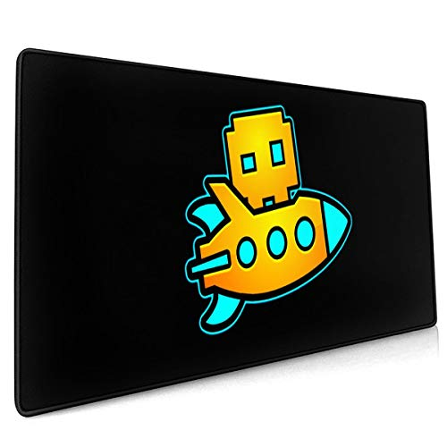 Geo-metry Dash Mouse Pad 15.8x35.5 in Multipurpose Comfortable Waterproof Mousepad Desk Mat for Gamer Office Home (Best Mouse For Geometry Dash)