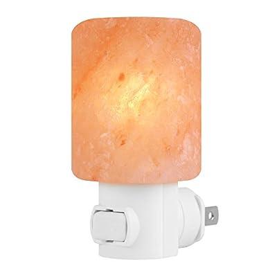 Syntus Himalayan Salt Lamp Natural Crystal Salt Light Glow Hand Carved Night Lights Wall light, Decoration and Air Purifying