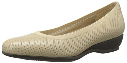 Trotters Womens Lansing Wedge Pump Nude Perforated