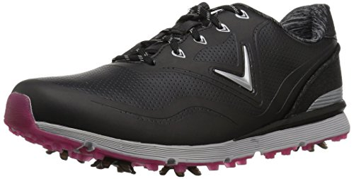 Callaway Women's Halo Golf Shoe, Black, 9 B US