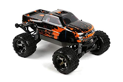 (SummitLink Compatible Custom Body Muddy Orange Over Black Replacement for 1/10 Scale RC Car or Truck (Truck not Included) ST-BR-03 )