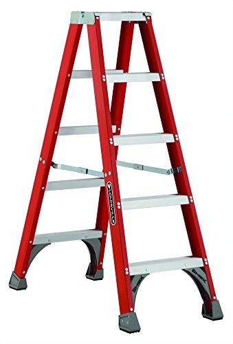 Louisville Ladder FM1505 Fiberglass Twin Front Ladder, 5-Feet, 300-Pound Duty Rating