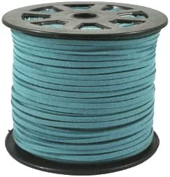 UnCommon Artistry Faux Leather Suede Beading Cord Turquoise, 20 ft