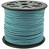 UnCommon Artistry Turquoise Blue Faux Leather Suede Beading Cord 10 Feet - Ultra Microfiber