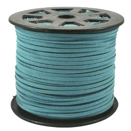 UnCommon Artistry Turquoise Blue Faux Leather Suede Beading Cord 10 Feet - Ultra Microfiber - Blue Leather Cord