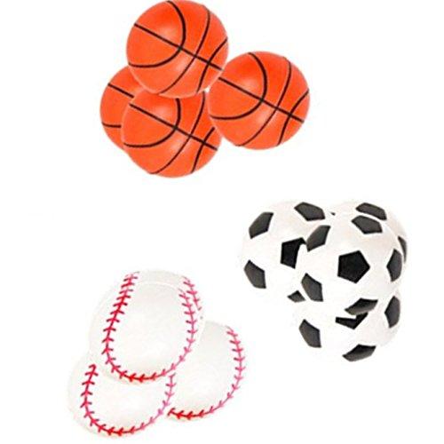 Baseballs Hi Bounce Ball - Play Kreative Sports 33MM Super Hi Bounce Balls - 12 Pack - 1.25