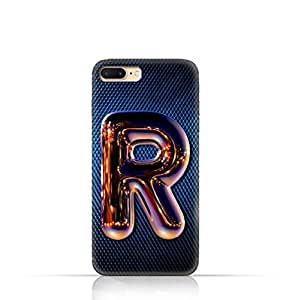 Apple iPhone 7 Plus TPU Silicone Case with Chrome Night Letter R Design