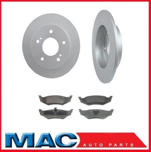 Mac Auto Parts 63439 Chrysler PT Cruiser Turbo (2) 538 Rear Rotor & Ceramic Rear Pads