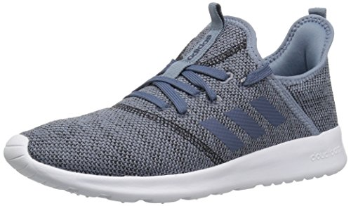 (adidas Performance Women's Cloudfoam Pure Running Shoe, Raw Grey/Tech Ink/Black, 8 M US)