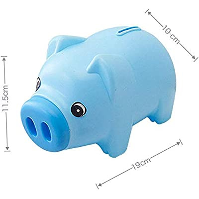 BOLLAER Cartoon Piggy Bank, Plastic Piggy Bank Coin Saving Pot Cash Collectible Saving Box Pig Toys: Toys & Games