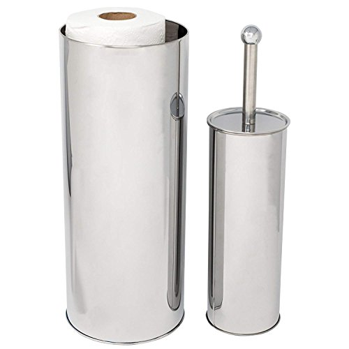 Huji Rust Resistant Stainless Steel Toilet Paper Canister Holder for  Bathroom Storage (1, Toilet Paper Canister&Toilet Brush Set)