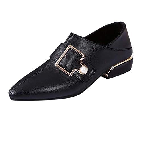 Bas Noir Femme Uniques Épais Avec Plates Chaussons Bottes De Boucle À Bottines Grande Manadlian Talons Pointu Chaussures 7xTa4qwF
